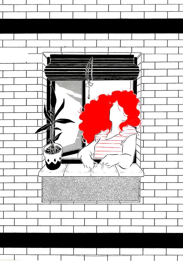 """Image of """"En mi ventana piso 2"""" (ilustración original)"""