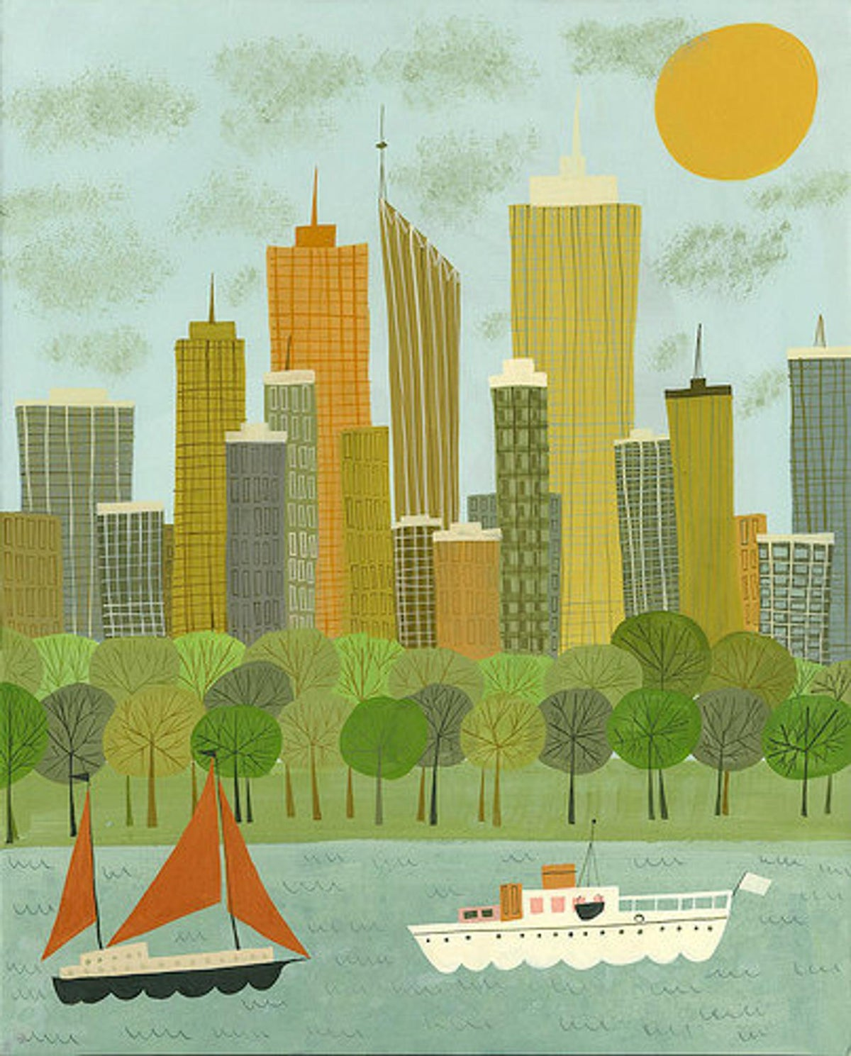 Image of Perth. Limited edition print.