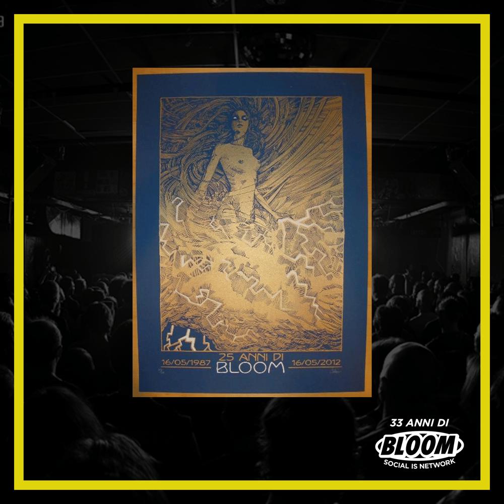 """Poster Malleus Art Lab """"25 anni di Bloom"""""""