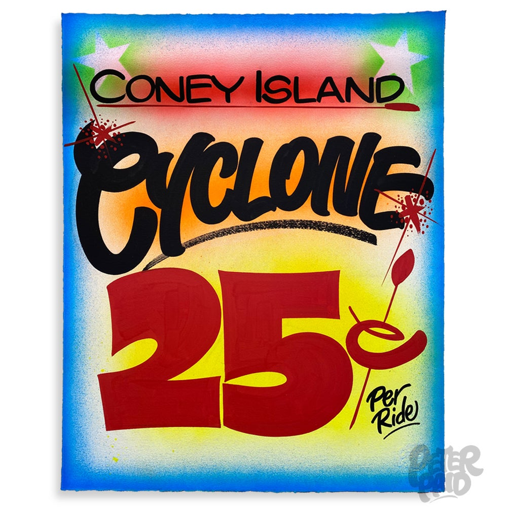 Image of Coney Island Cyclone - Arches Paper