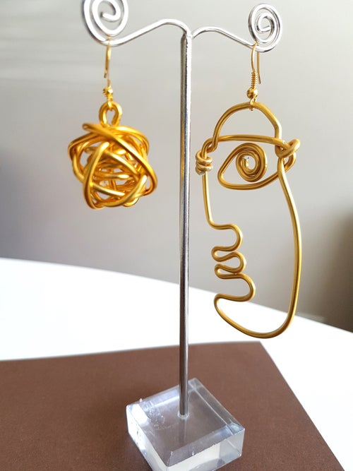 Image of face earrings #1