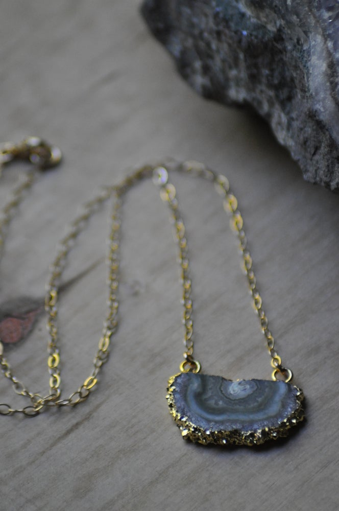Image of Amethyst Stalactite on Gold Fill Chain