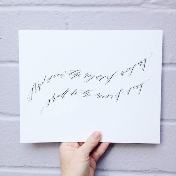 Image of Morn of Song Original Calligraphy Piece