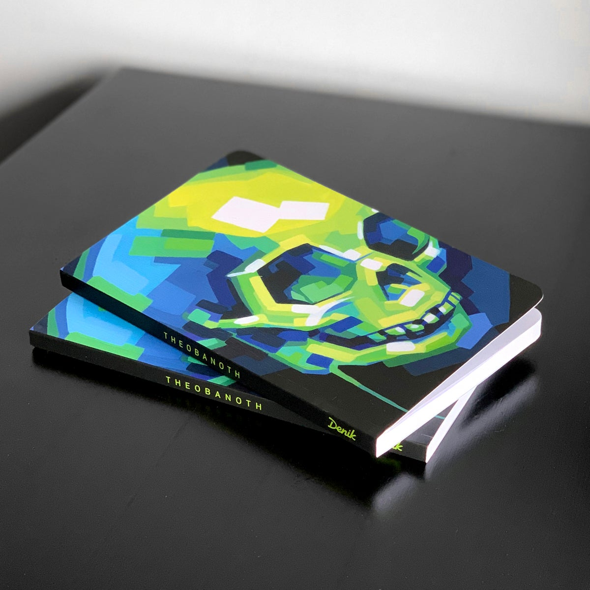 Image of Soft-Cover Sketchbook - Green Skull