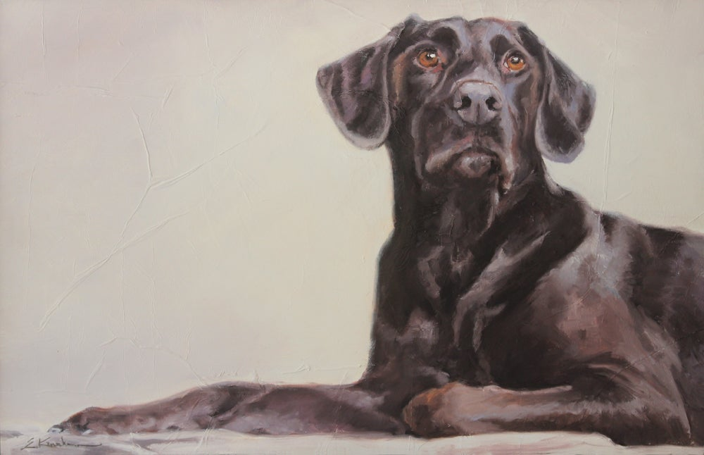 Image of Loyal Lab Original Painting