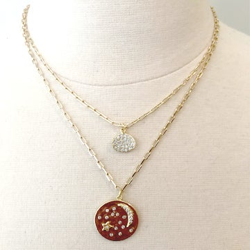 Image of Layered Pave Necklace- Two Styles