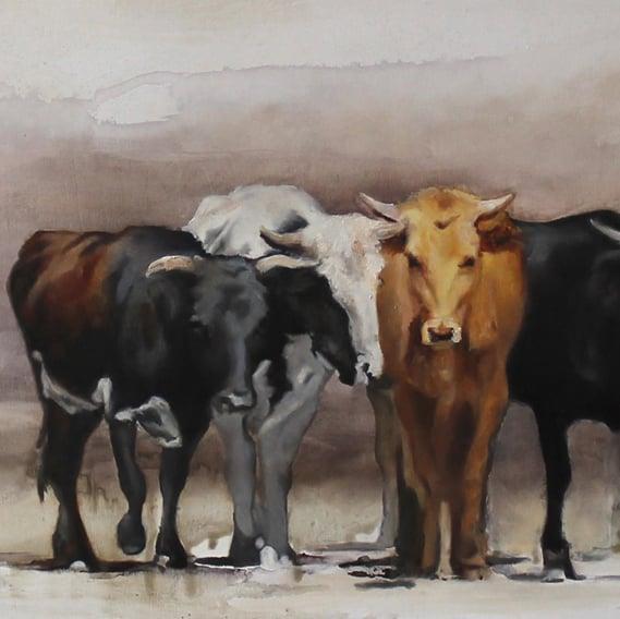 Image of Las Vacas de Oaxaca Print