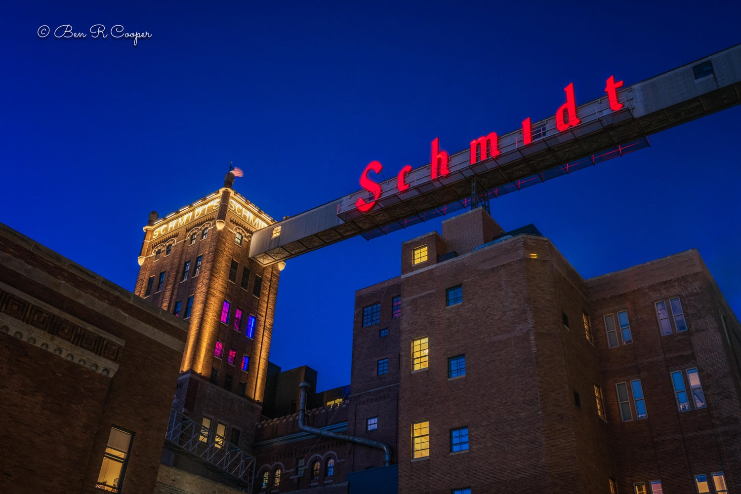 Schmidt Brewery at Night