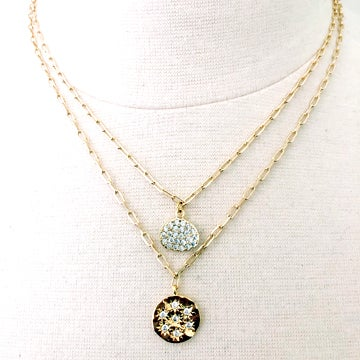 Image of Round Burst Charm Necklace