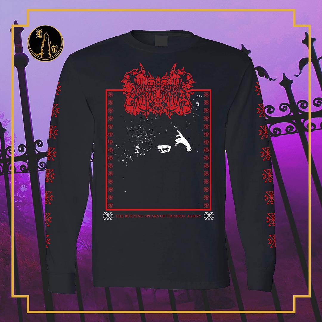 Image of Lamp of Murmuur - The Burning spears of crimson agony black long sleeve