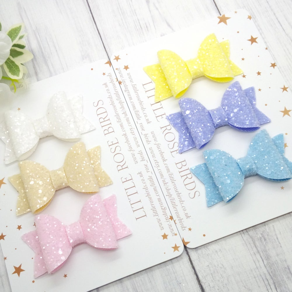 Image of CHOOSE YOUR COLOUR - Sugar Frosted Glitter Bow