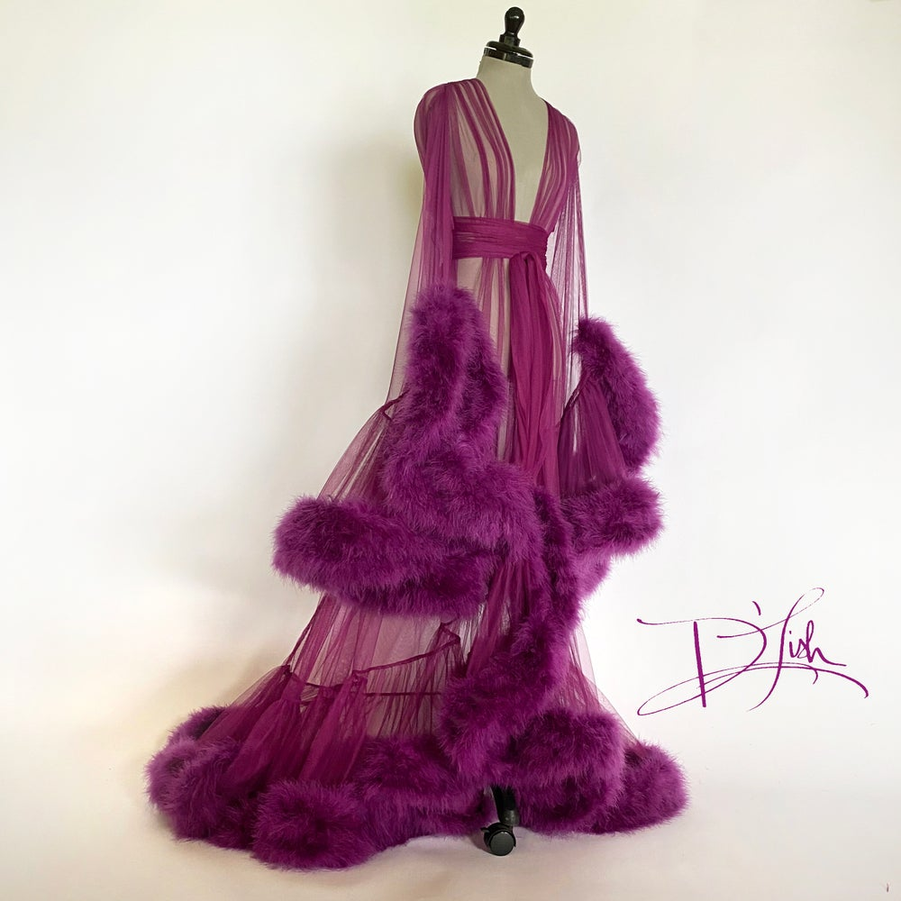 "Image of Plum Deluxe ""Cassandra"" Dressing Gown"