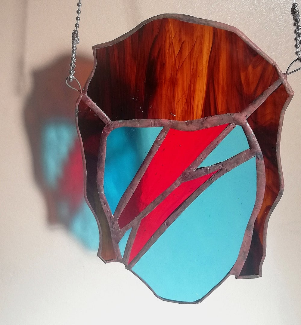 Stained-Glass Bowie Suncatcher