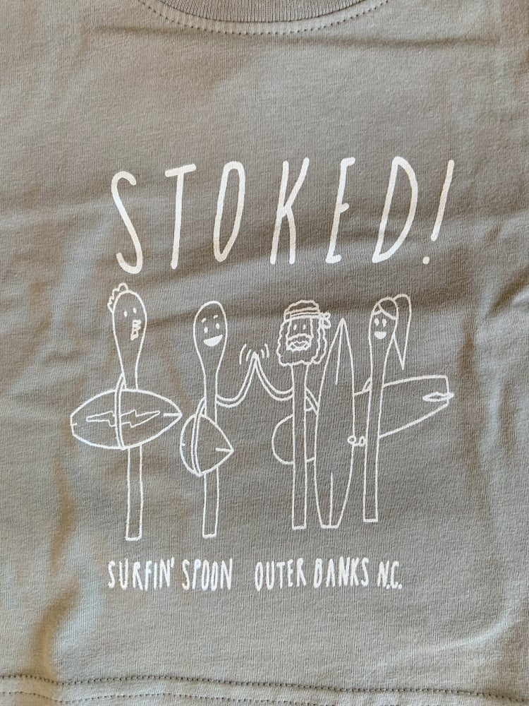 Image of Stoked! Toddler Tee - Heather Grey