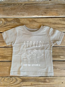 Image of Stoked! Infant Tee - Stone