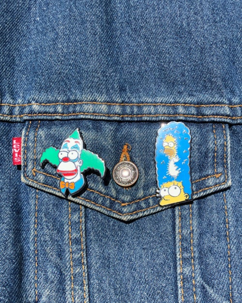 Image of Combo Pack / Happy Face & D'oH Sorry Marge / Lapel Pins