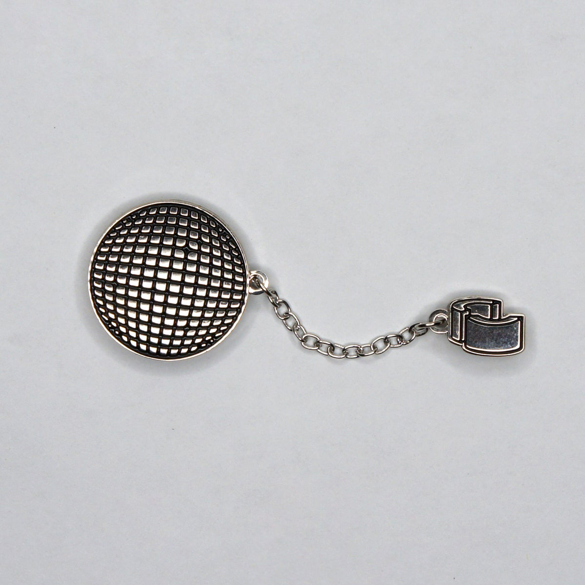 Disco Ball and Chain Enamel Pin