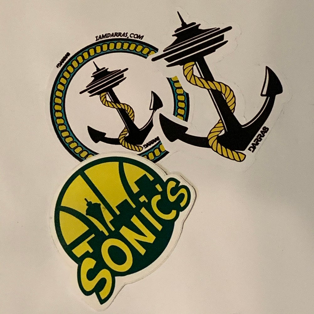 Image of Seattle Theme Stickers