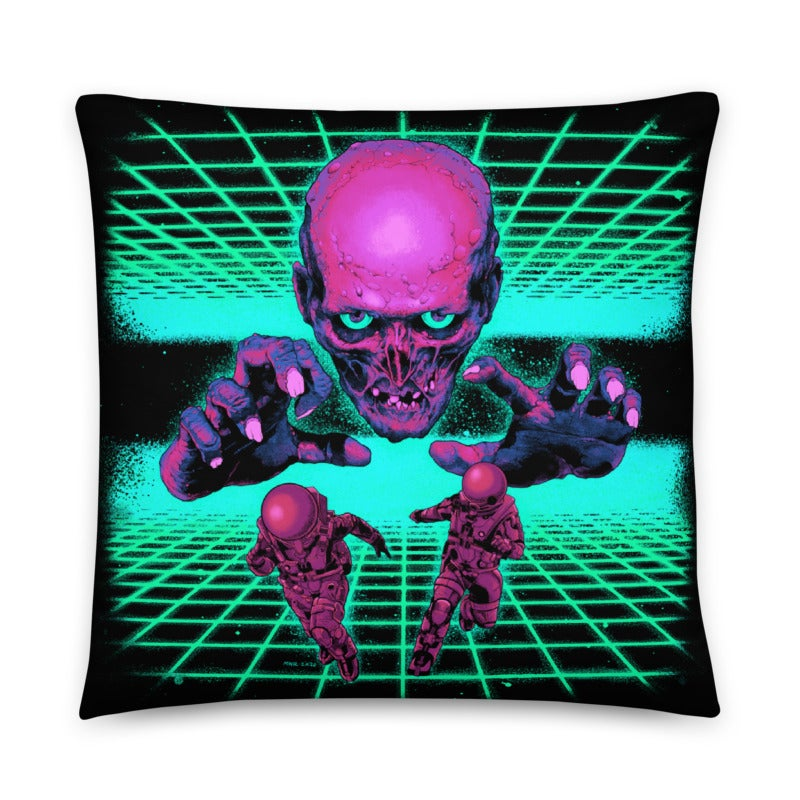 Image of Space Zombie Throw Pillow