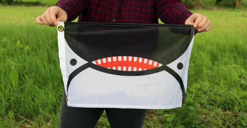Image of Baby Orca Face Flag of Seattle