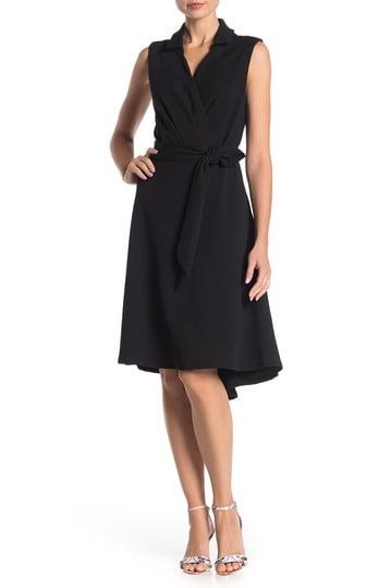 Tash + Sophie Sleeveless High/Low Fit & Flare Dress