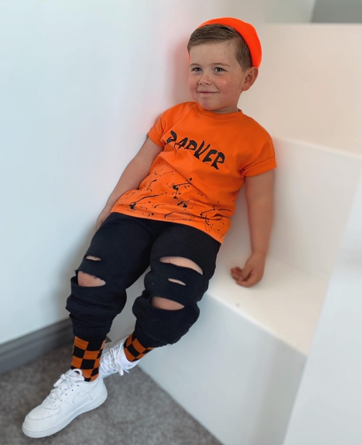 Image of Orange Personalised Splat Tee