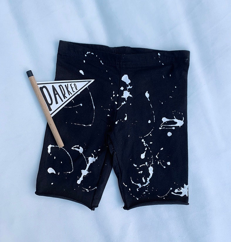 Image of Splat Distressed Cycle Shorts