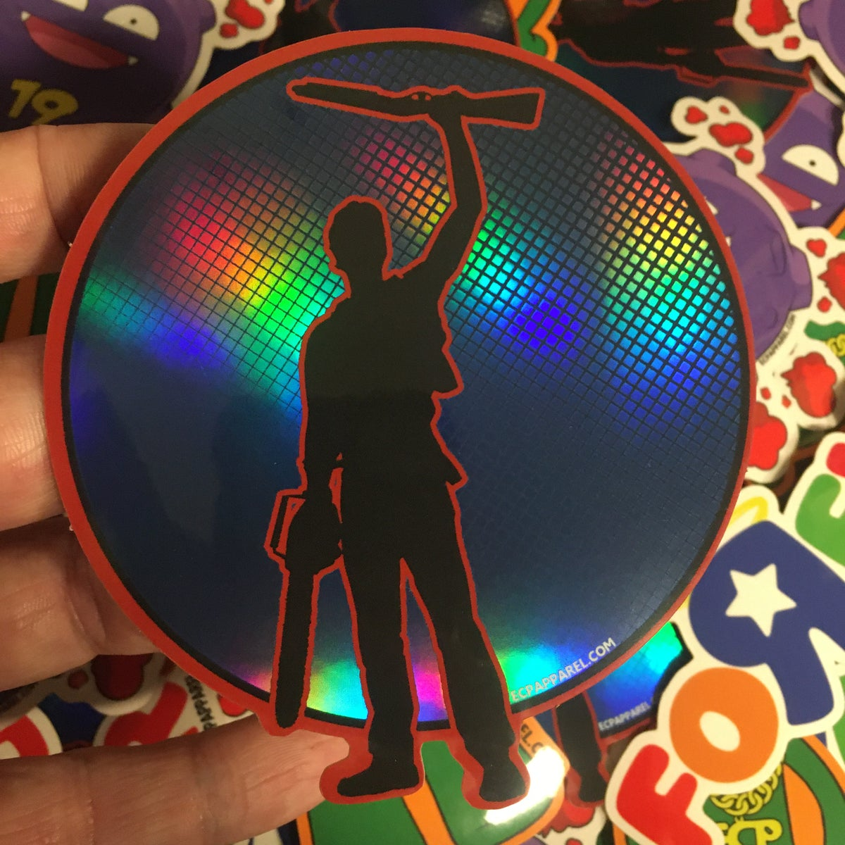 """Boom Stick!"" - Die-Cut Hologram Sticker"