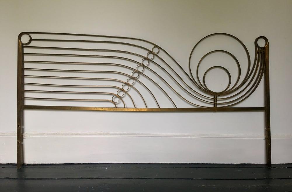 Image of Decorative Brass Headboard, Mid-20th Century Italian Modern