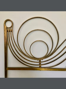 Image of Decorative Brass Headboard, Mid-20th Century Italian Modern
