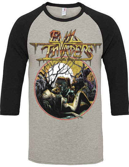 Image of Baseball 3/4 Sleeve Shirt - Evil Invaders EP