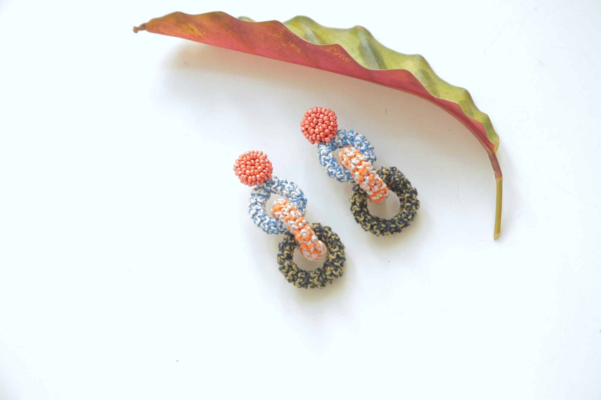 Image of Tangerine Bonded Together Earrings