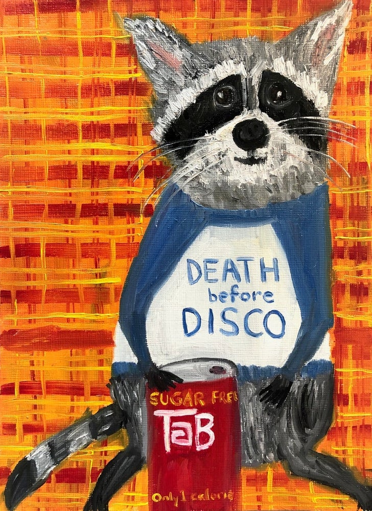 Image of Death before disco. Limited edition print.