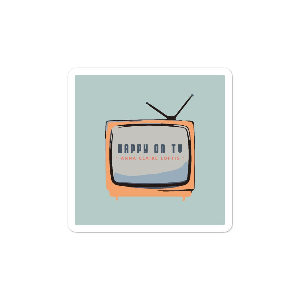 Image of Happy on TV Sticker