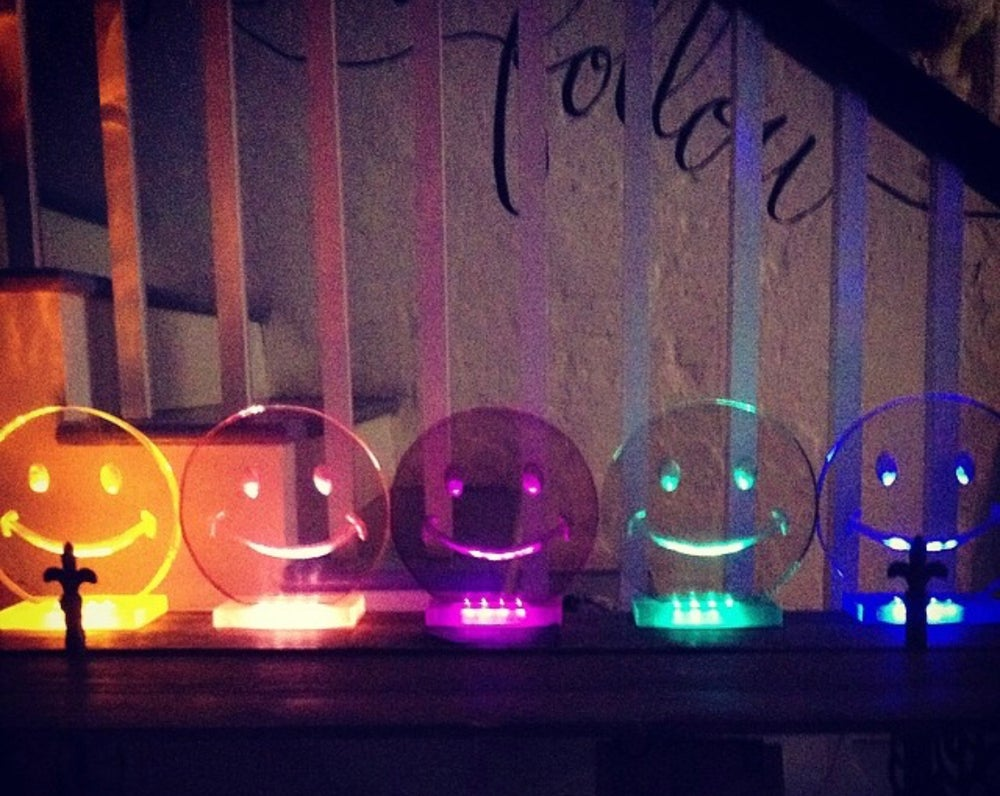 Image of Smiley Face Lamps (6 colors- clear not pictured)