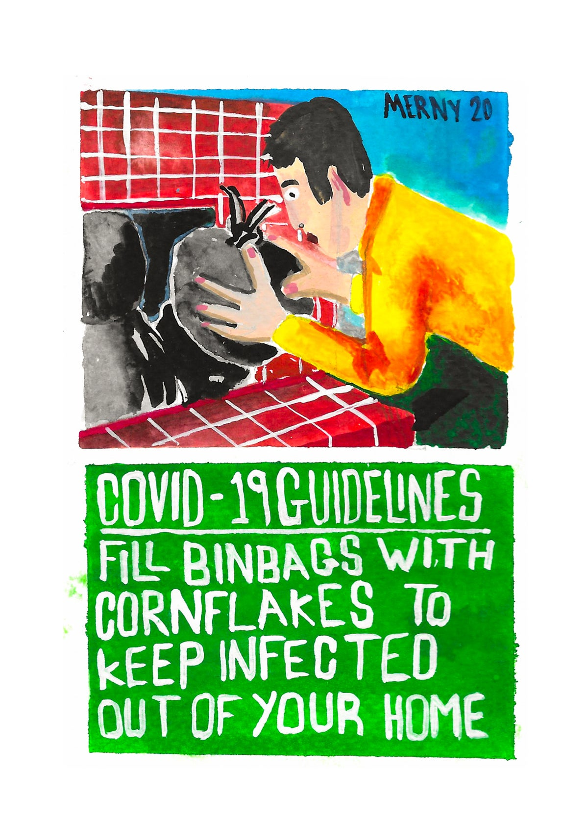Covid Guidelines #1 Cornflake Binbags