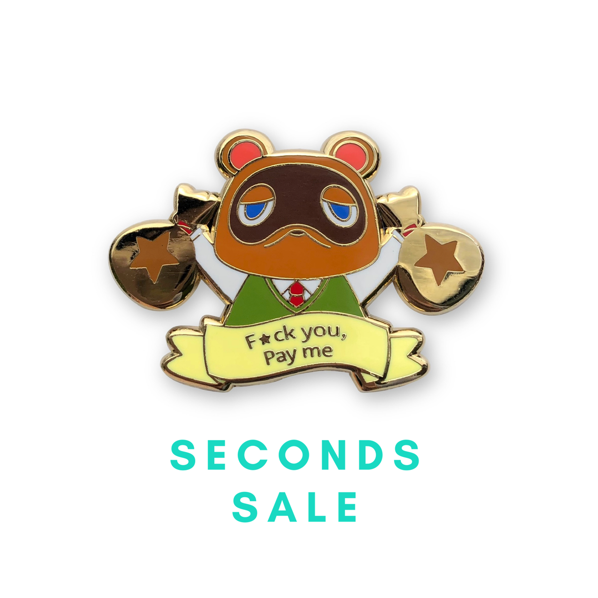 Image of *Seconds sale* Pay me enamel pin