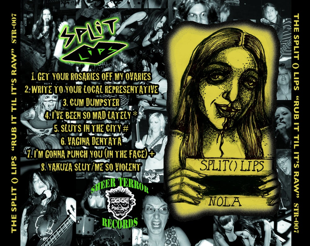 "Image of The Split ( ) Lips ""Rub It Til It's Raw"" CD"