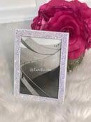 Image of Swarovski Bling Custom Picture Frame 5 x 7 made with SWAROVSKI® Xirius Rose-Cut Crystals.