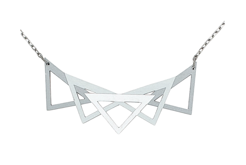 Image of Silver Geo Necklace