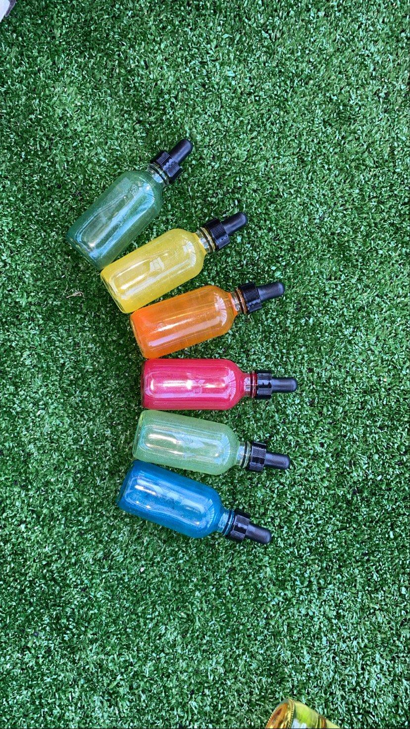 Taste the fruity rainbow body & face oils