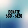 Donation between $60 - $120