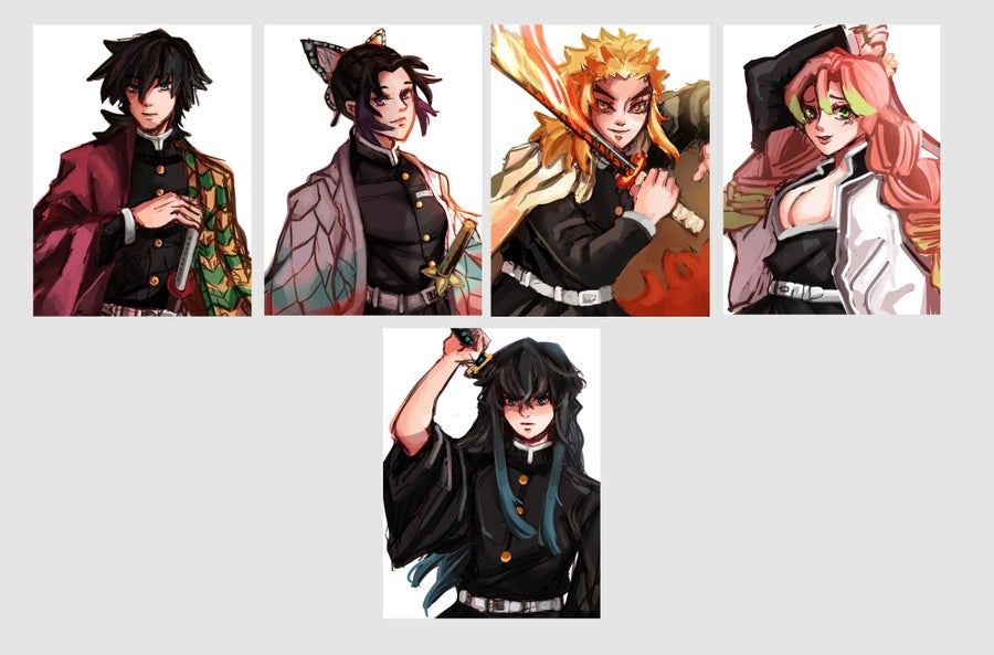 Image of Kimetsu no Yaiba/Demon Slayer Postcards