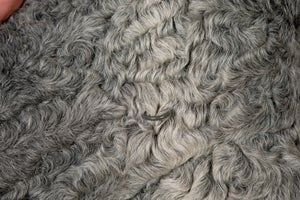 Image of Afghan Persianer Karakul Lamb Fur Jacket Coat Womens Medium Gray Soft Sheep