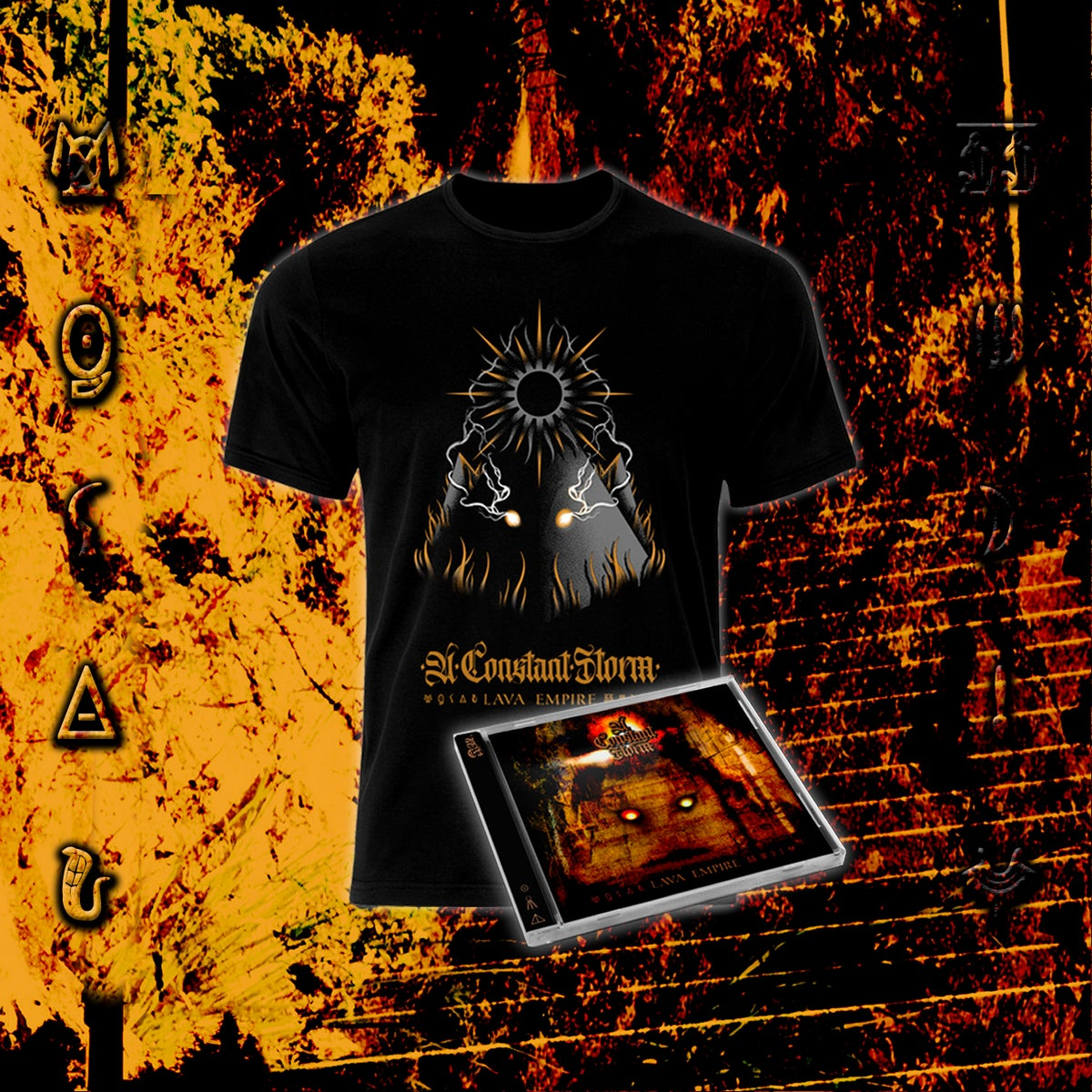 Image of Lava Empire Pack - T-Shirt + Jewelcase CD