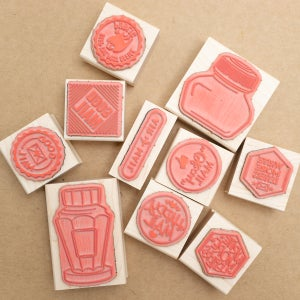 """""""Write More Letters"""" WPA Style Rubber Stamp"""