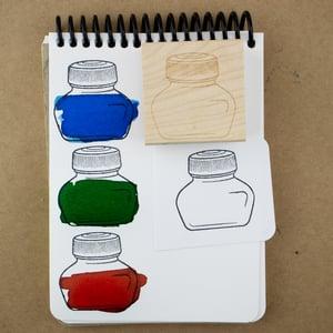 Ink Bottle (Short) Rubber Stamp