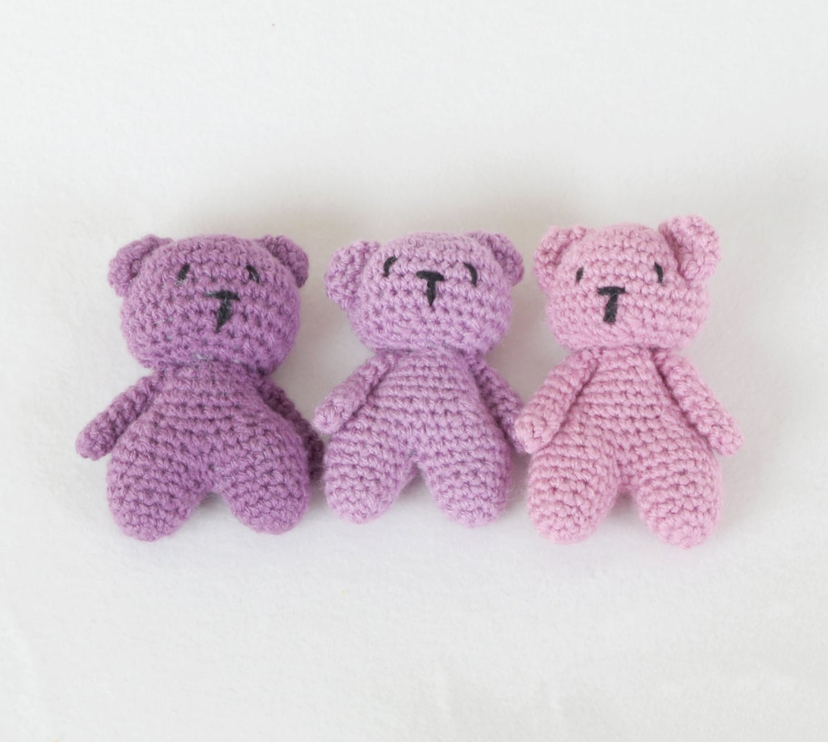 Newborn Teddy Bears - Set of 3 (Girls)