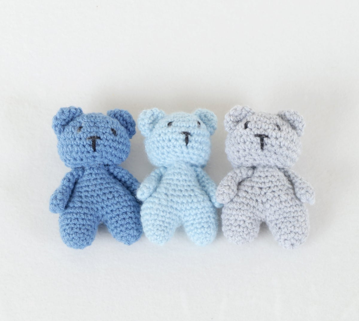 Newborn Teddy Bears - Set of 3 (Boys)