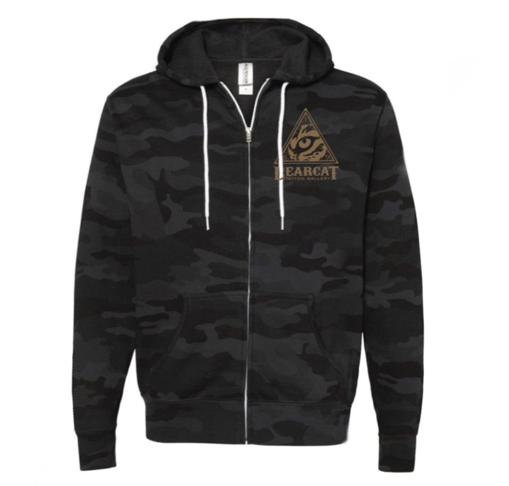 Image of Black on Black Camo hoodie
